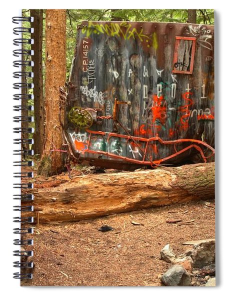 Train Wreck Along The Cheakamus River Spiral Notebook