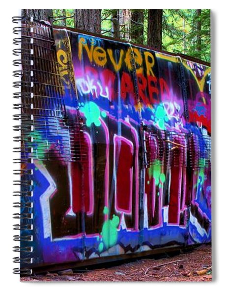 Train Wreck Art In The Woods Spiral Notebook