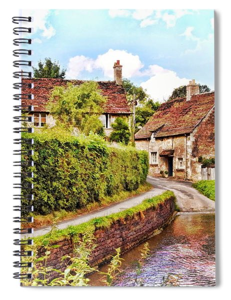 Tranquil Stream Lacock Spiral Notebook by Paul Gulliver