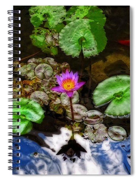 Tranquility - Lotus Flower Koi Pond By Sharon Cummings Spiral Notebook