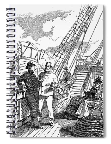 Transportation Ad, 1888 Spiral Notebook
