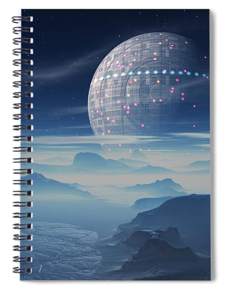 Tranus Alien Planet With Satellite Spiral Notebook