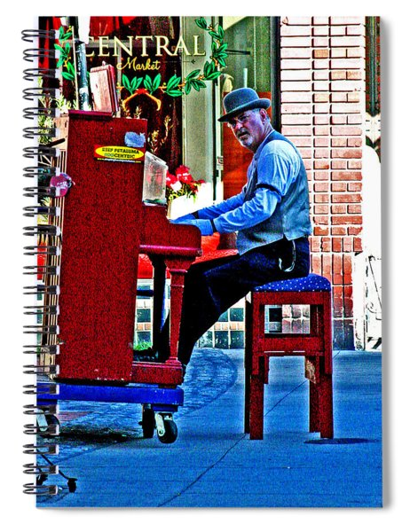 Traveling Piano Player Spiral Notebook