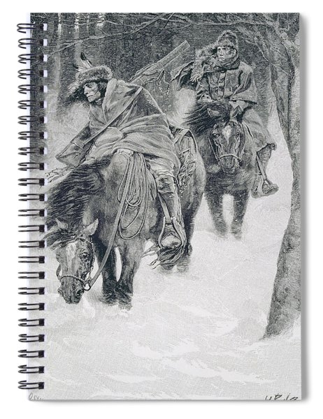 Travelling In Frontier Days, Illustration From The City Of Cleveland By Edmund Kirke, Pub Spiral Notebook