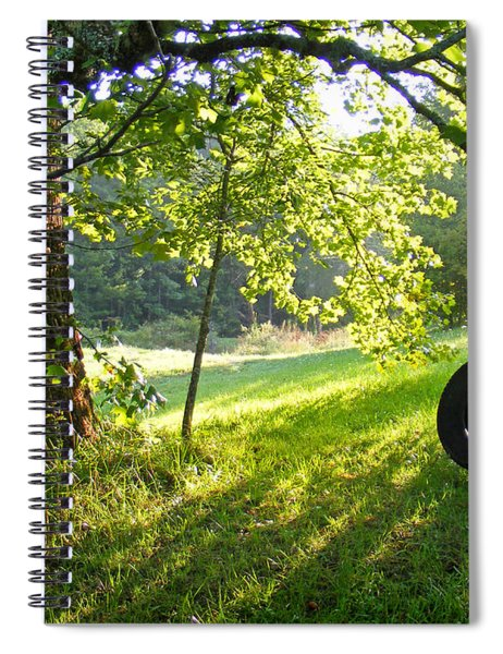 Tree And Tire Swing In Summer Spiral Notebook