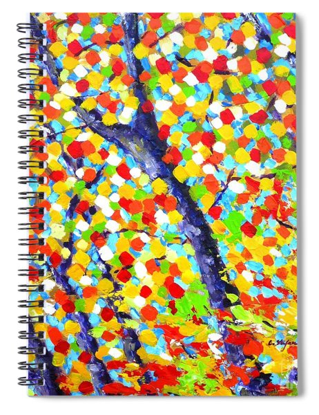 Tree At Fall Spiral Notebook