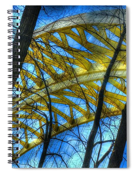 Spiral Notebook featuring the photograph Tree Bridge Designs by Mel Steinhauer