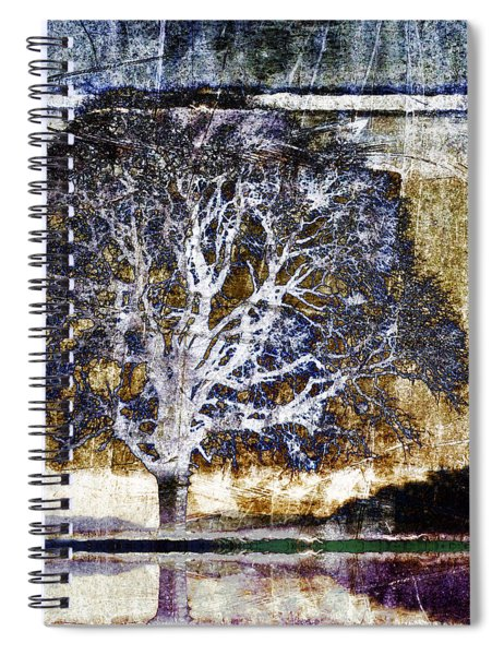 Tree In Metal Spiral Notebook