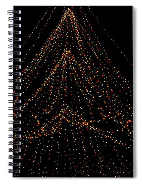 Tree Of Lights Spiral Notebook