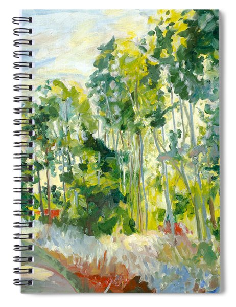 Trees By A Road Spiral Notebook