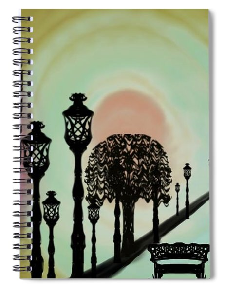 Trees Of Lights Spiral Notebook