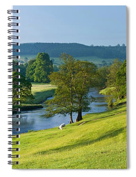 Trees On A Hill, Chatsworth House, Peak Spiral Notebook