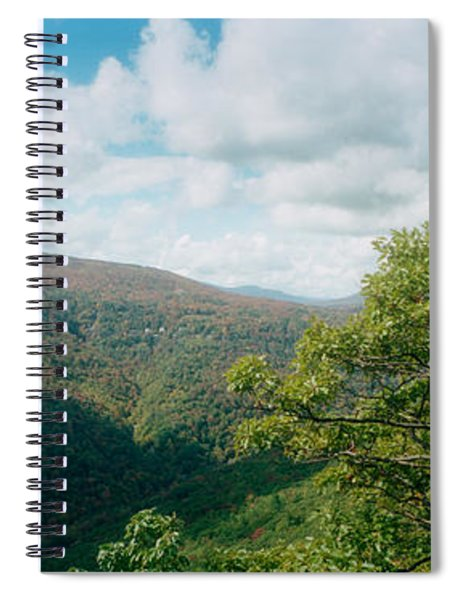 Trees On Mountain, View From Sunset Spiral Notebook