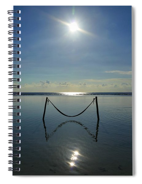 Spiral Notebook featuring the photograph Tres Luces by Skip Hunt