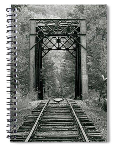 Trestle Bridge Over Railroad Track Spiral Notebook