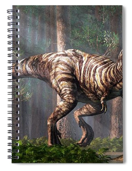 Trex In The Forest Spiral Notebook