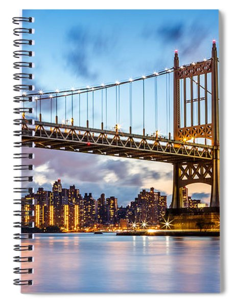Triboro Bridge At Dusk Spiral Notebook