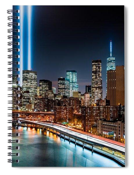 Tribute In Light Memorial Spiral Notebook