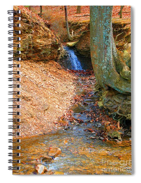 Trickling Waterfall By Shellhammer Spiral Notebook
