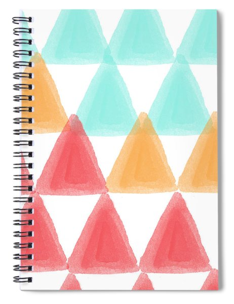 Trifold- Colorful Abstract Pattern Painting Spiral Notebook