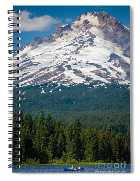 Trillium Lake Canoe Spiral Notebook