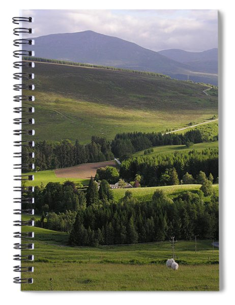 Summer In The Hills Of Perthshire  Spiral Notebook