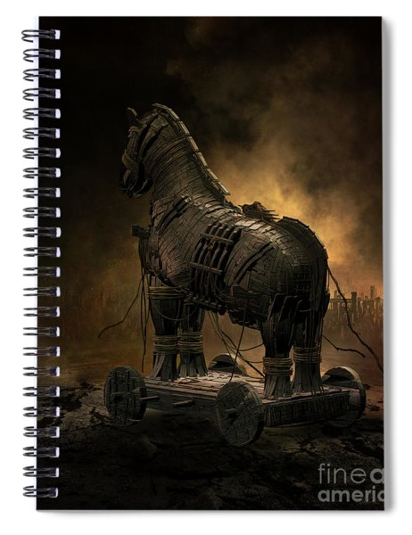 Trojan Horse Spiral Notebook