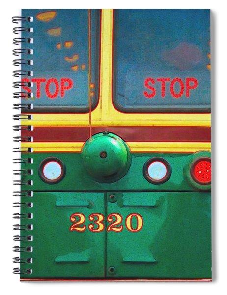 Trolley Car - Digital Art Spiral Notebook