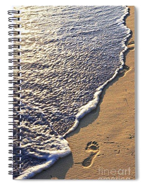 Tropical Beach With Footprints Spiral Notebook