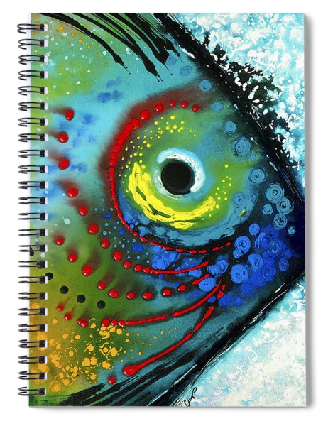 Tropical Fish - Art By Sharon Cummings Spiral Notebook