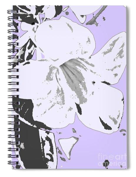 Tropical Floral Violet Black Spiral Notebook