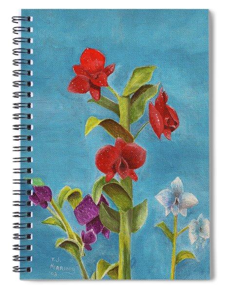 Tropical Flower Spiral Notebook