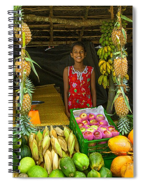 Tropical Fruit Shop Spiral Notebook
