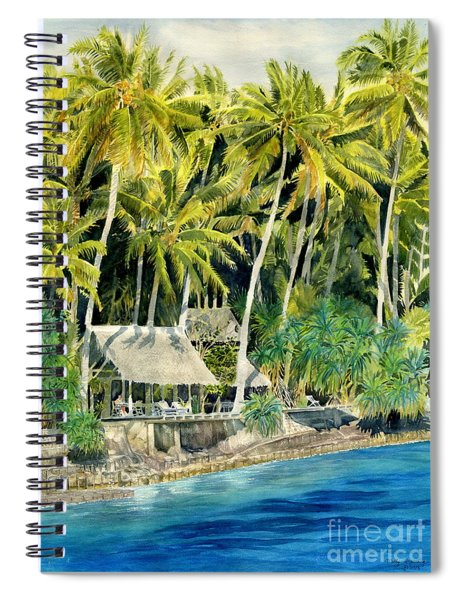 Tropical Island  Spiral Notebook