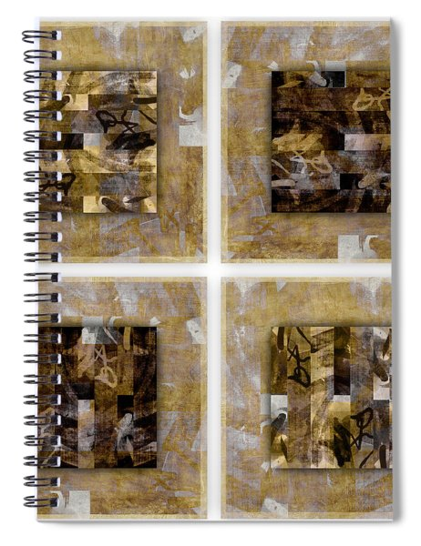 Tropical Panel Four Up Spiral Notebook
