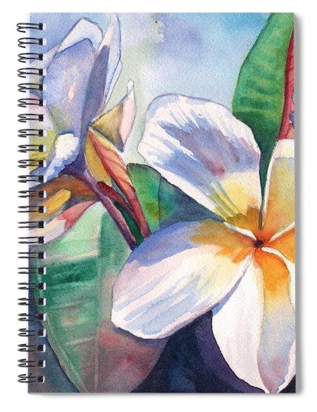 Tropical Plumeria Flowers Spiral Notebook