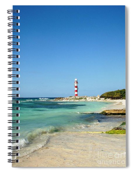 Tropical Seascape With Lighthouse Spiral Notebook