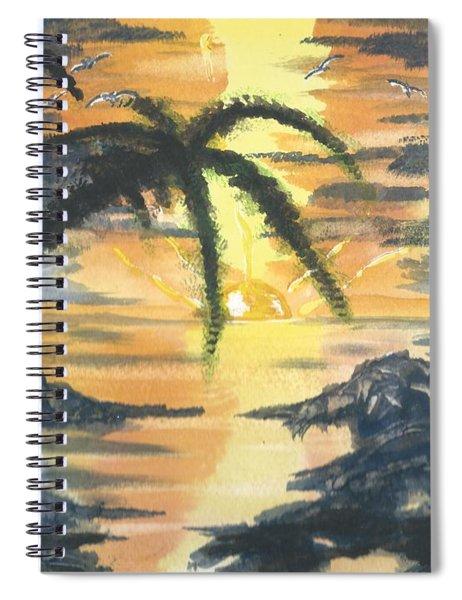 Tropical Sun Spiral Notebook