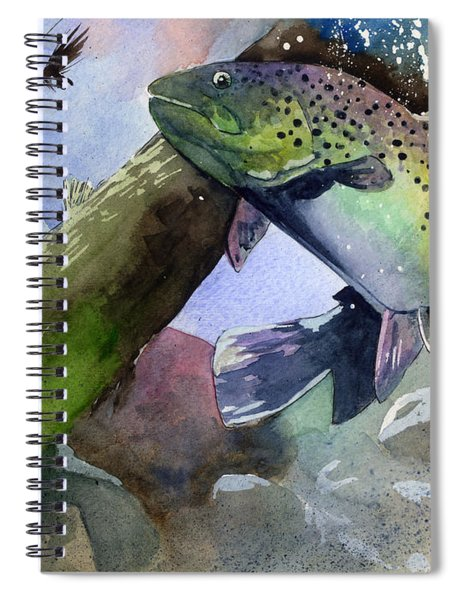 Trout And Fly Spiral Notebook