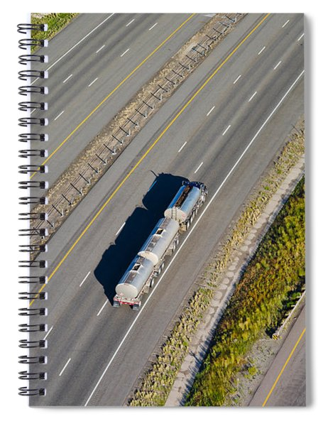 Truck Moving On A Highway, Interstate Spiral Notebook