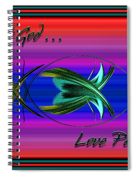 Trust God - Love People Spiral Notebook