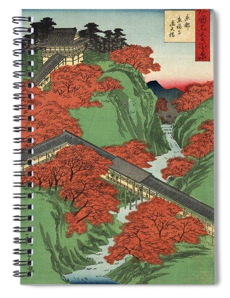 Tsuten Bridge Tofukuji Temple At Kyoto Spiral Notebook