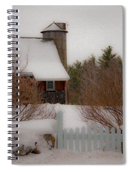 Tuftonboro Barn In Winter Spiral Notebook