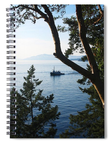 Spiral Notebook featuring the photograph Tugboat Passes by Lorraine Devon Wilke