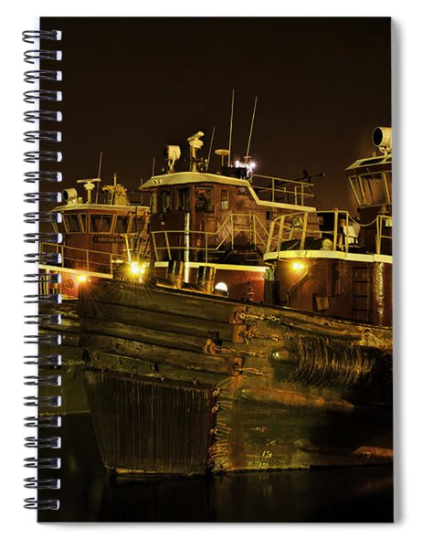 Tugboats 1st Night Dec 2013 Spiral Notebook