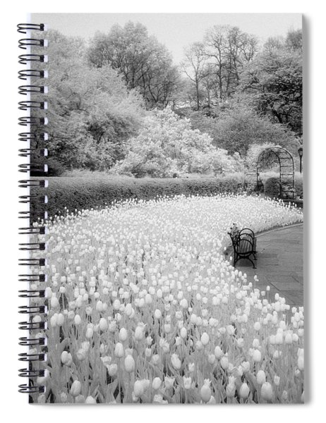 Tulips And Bench II Spiral Notebook