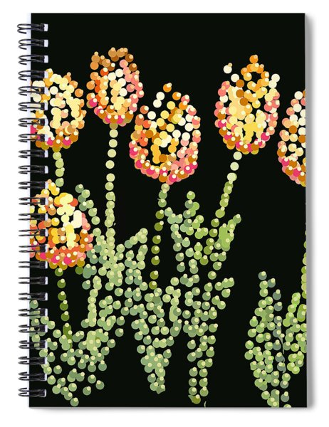 Tulips Bedazzled Spiral Notebook