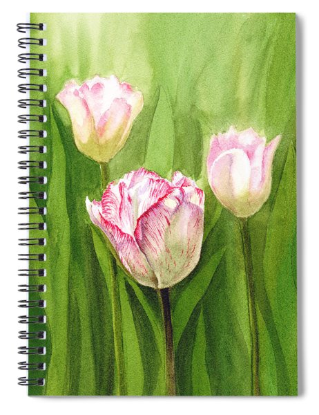 Tulips In The Fog Spiral Notebook