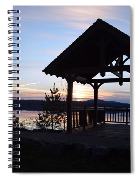 Tupper Lake Sunset Over Raquette Pond Spiral Notebook