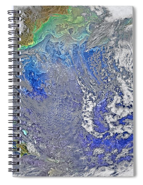 Turbulence In The Atlantic Ocean Spiral Notebook